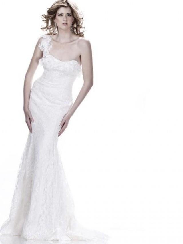 One Shoulder Strap Wedding Dress Inspiration 2169065 Weddbook