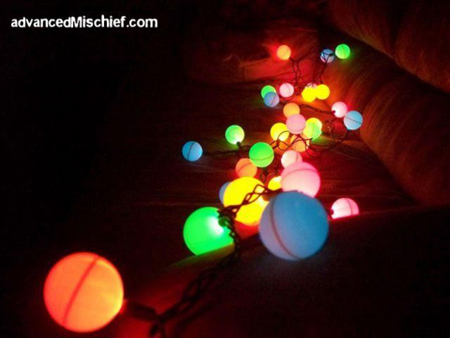 How to make ping pong ball lights diy crafts - How are ping pong balls made ...