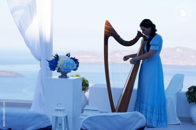 wedding photo - Morning wedding on the Caldera