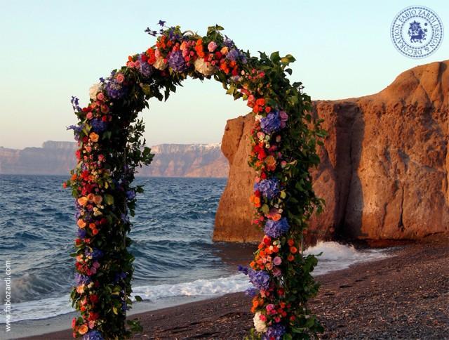 wedding photo - Beach wedding wedding arch