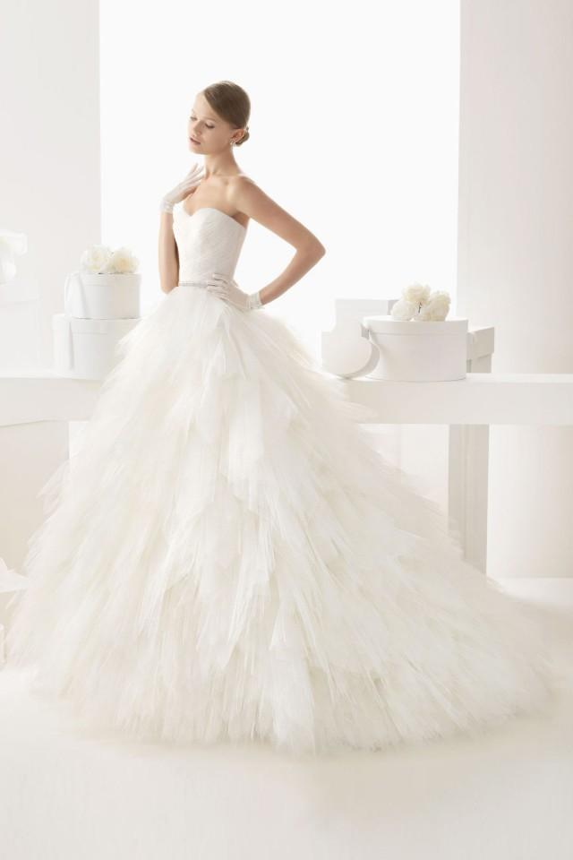wedding photo - Sweetheart Strapless Empire Ball Gown Tulle Wedding Dress with Wrap
