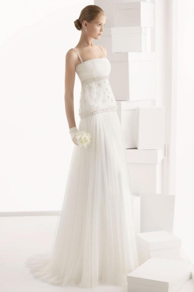 wedding photo - Modern Spaghetti Straps Appliques Floor Length Cheap Wedding Dress