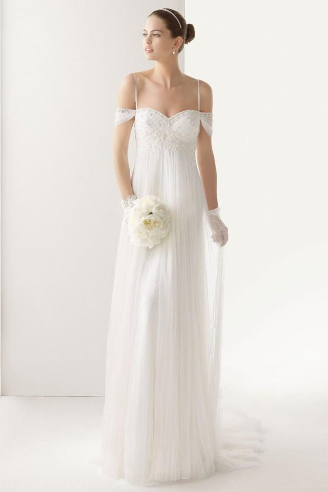 wedding photo - Unique Spaghetti Straps Floor Length Tulle Dress for Weddings