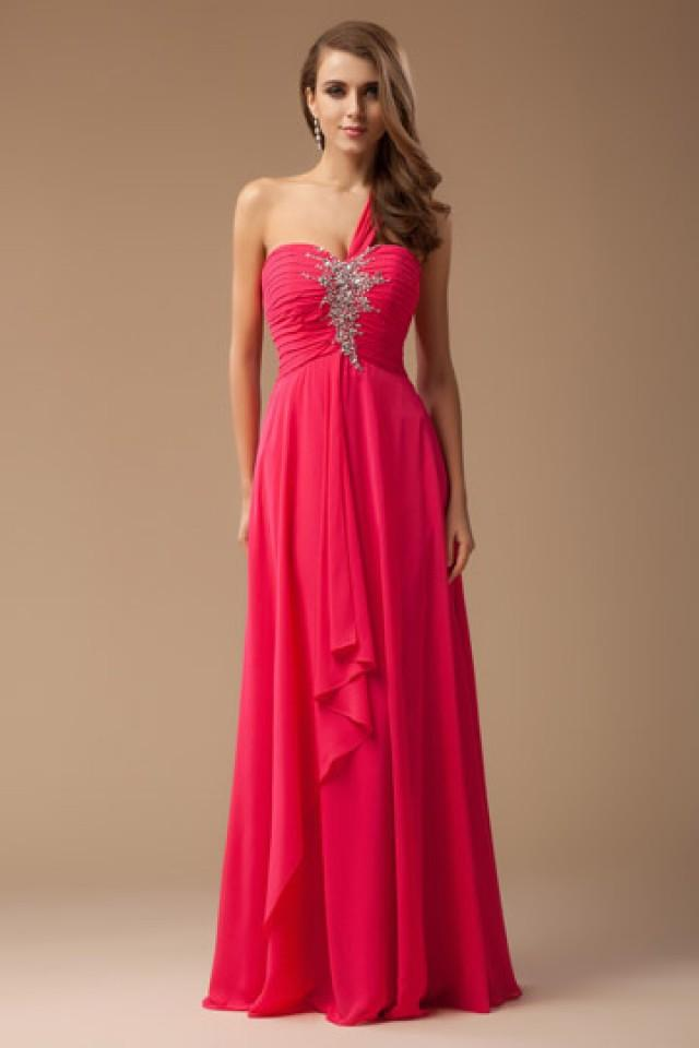 139c94808 wedding photo - Buckfastleigh Chiffon High Waist Evening Gown