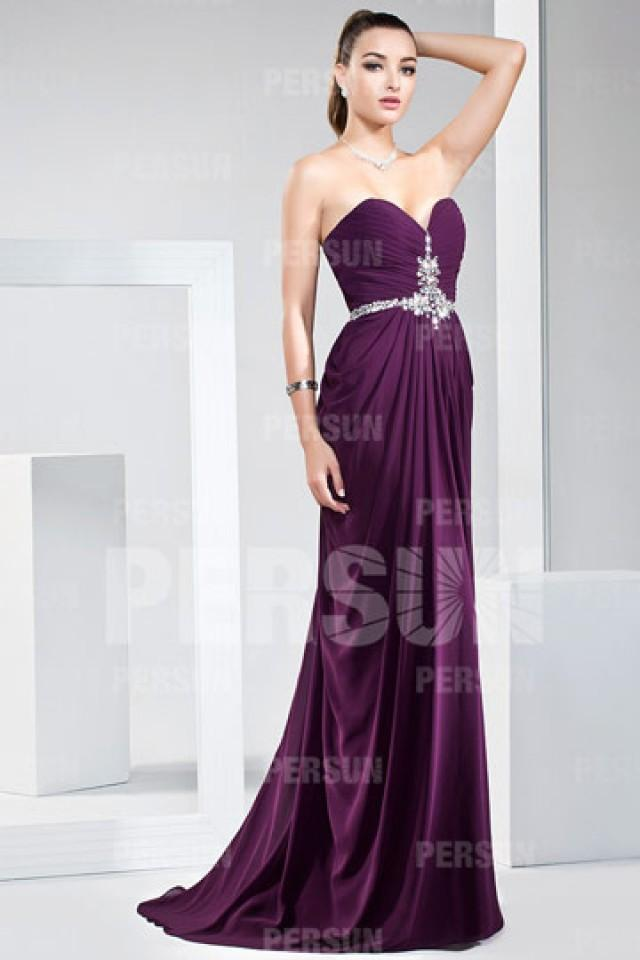 wedding photo - Crediton Sweetheart Full length Prom Gown with strass belt
