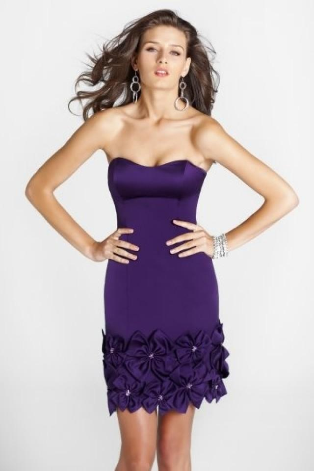 wedding photo - Framlingham Sheath Purple Cocktail Dress