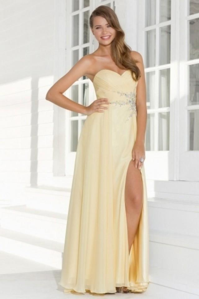 wedding photo - Gateshead Chiffon Sweetheart Ruched Split Prom Dress