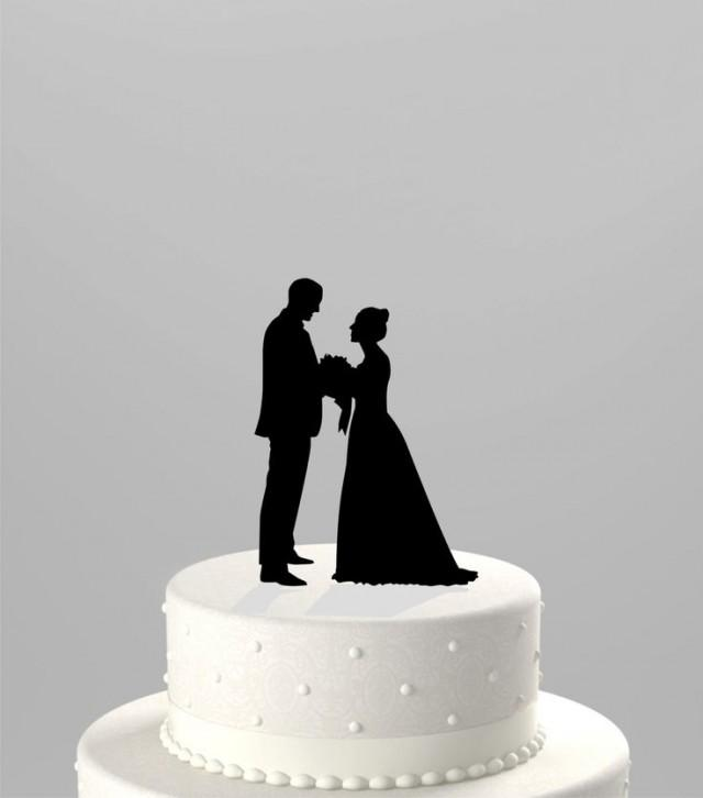 Design Your Own Monogram Cake Topper : Use Your Photo To Create A Custom Silhouette Wedding Cake ...