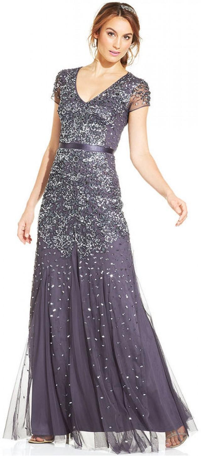 Adrianna Papell Cap Sleeve Embellished Gown 2172705