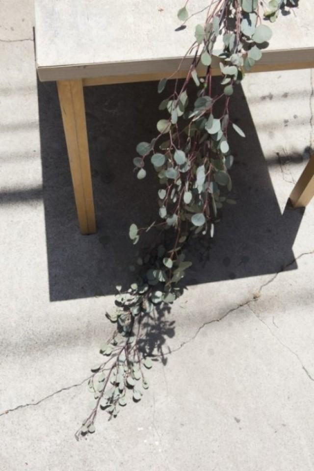 Natural DIY Eucalyptus Wedding Table Runner ...