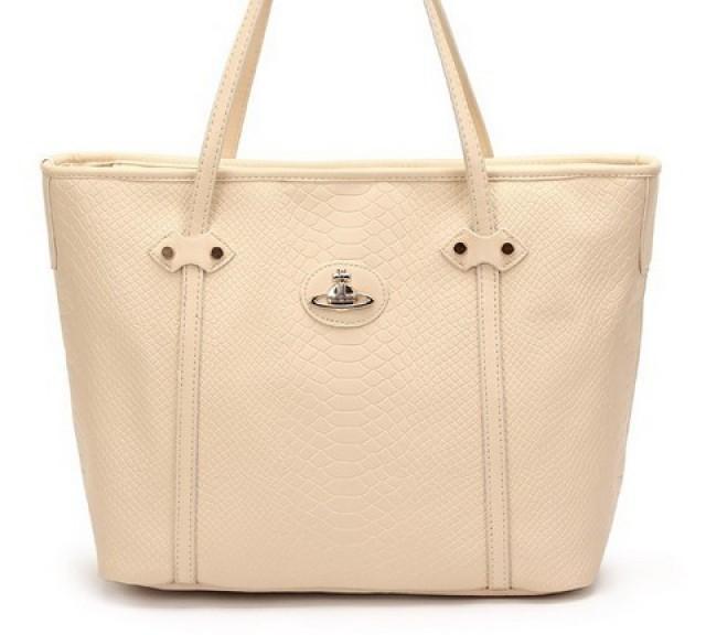 wedding photo - Zapprix Crocodile Skin PU Beige Women Shoulder Top Handle Bag