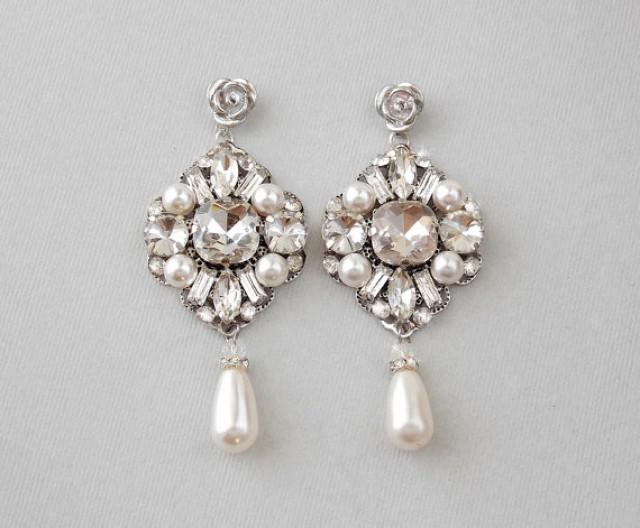 Swarovski Pearls, Wedding Earrings