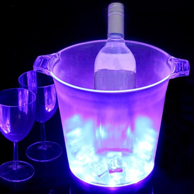 wedding photo - LED Light up Ice Bucket, Drinks Cooler, Party, Hen Party, Wedding Multi Coloured