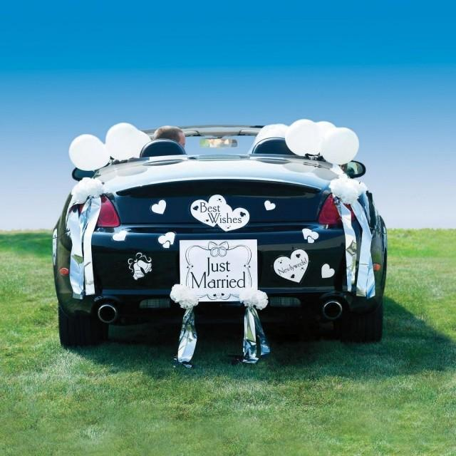 Auto just married wedding car decoration kit 2175483 weddbook - Wedding decorations for car ...