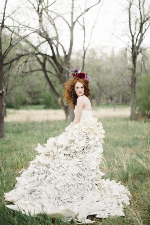 Literary Inspired Wedding With A Book Page Wedding Dress ...