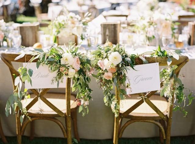 wedding photo - Chair Decor