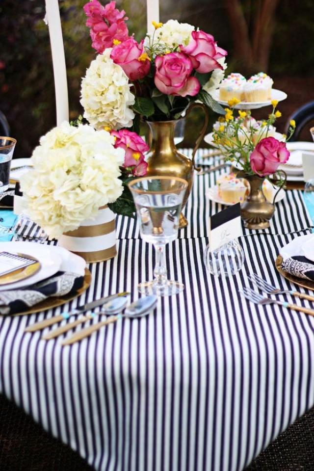 wedding photo - Black And White Stripe Overlay