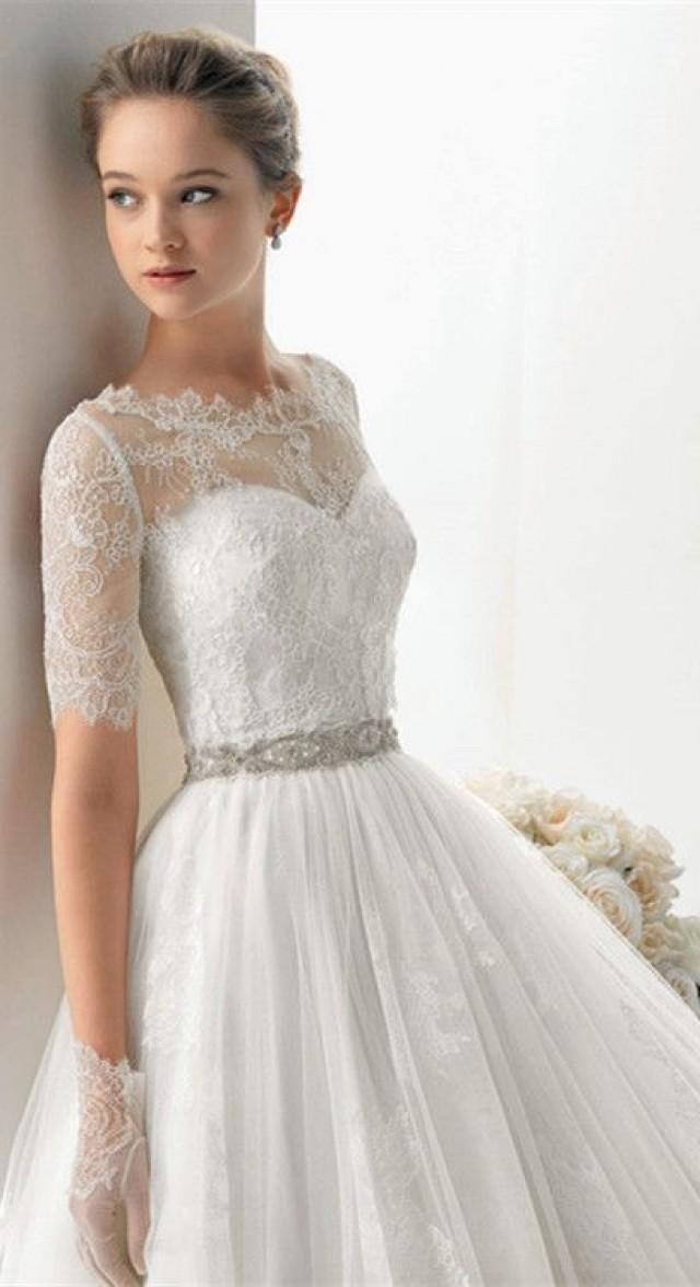 We209 2013 Beaded Sash Vintage Ivory Ukraine Wedding Dress ...