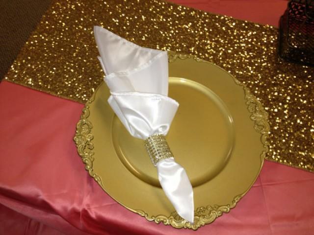 wedding photo - Gold Silver Purple Champange Red NavySequin Table Runner