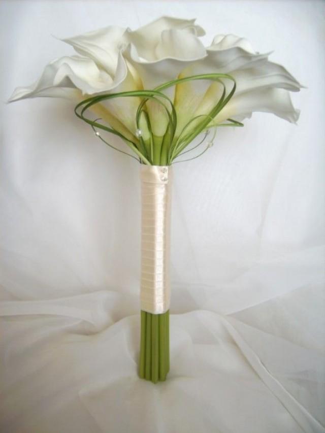 Wedding Bouquets Single Flower : Wedding flower calla lily single stem sample table dec