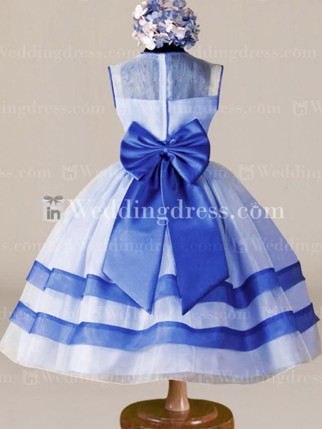 wedding photo - Tea Length Flower Girl Dress