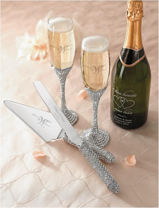 Champagne Flutes And Cake Server Set By Things Remembered Sponsored
