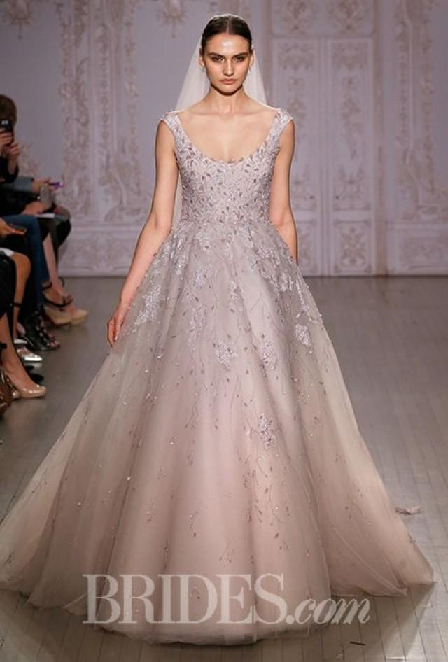 Monique lhuillier wedding dresses fall 2015 bridal runway for Wedding dresses in color