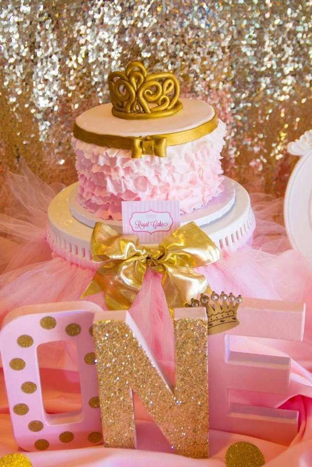 Bridal shower pink and gold birthday party ideas for 1 birthday decoration ideas