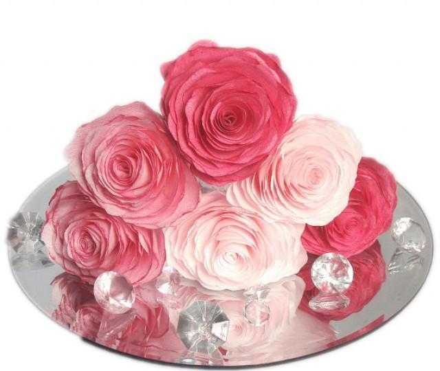 Paper Peonies, Blush Peony Wedding Cake Flowers, Peony ...