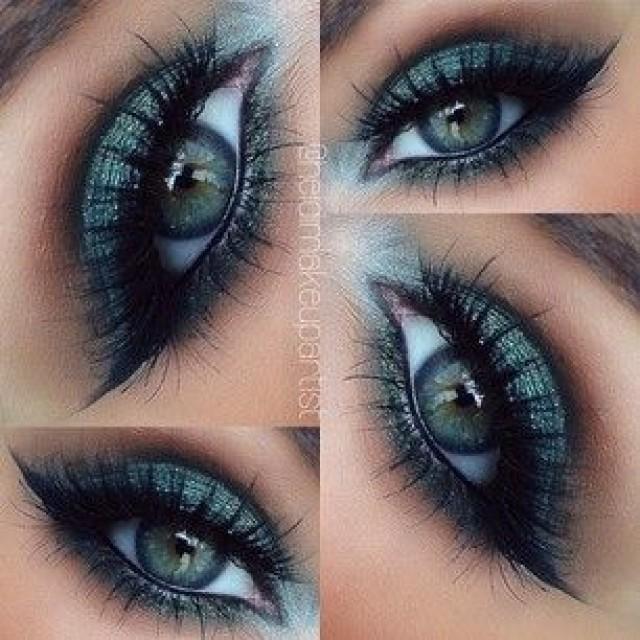 Макияж для зеленых глаз вечерний фото