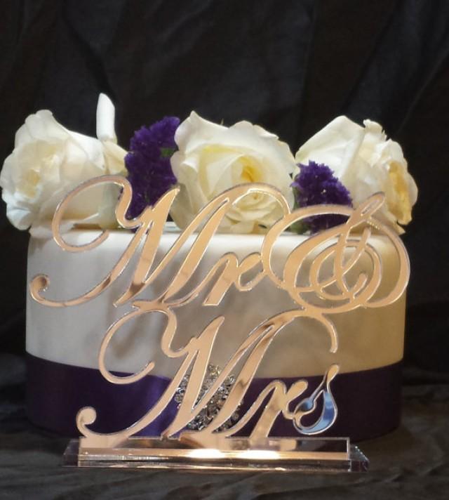 wedding photo - Mr & Mrs Table Sign Wedding Head table Sign