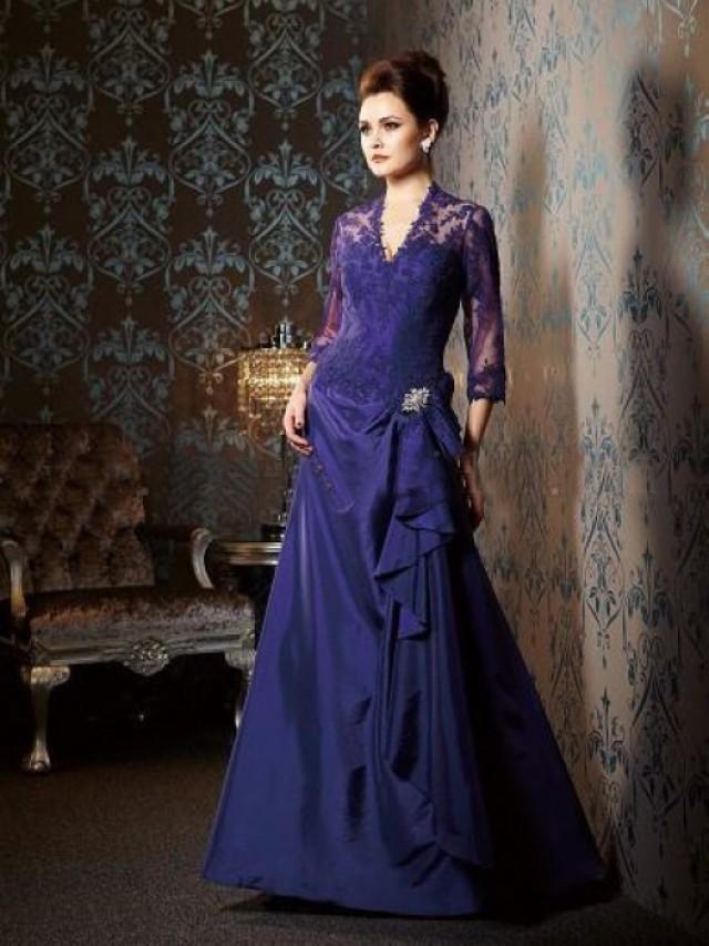 wedding photo - Purple Mother of the Bridesmaid Dresses