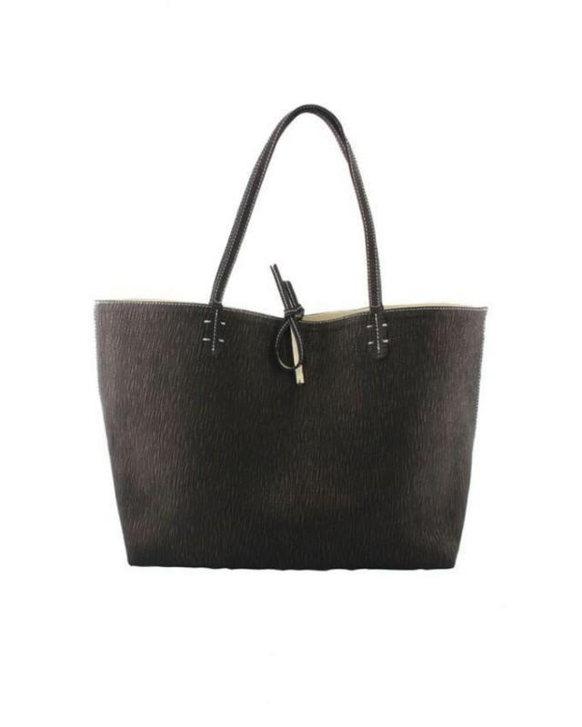 wedding photo - Zapprix Tiger Texture Leather Women Shoulder Casual Bag with Flexible Straps