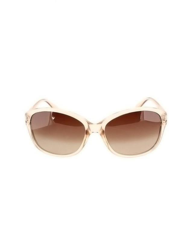 wedding photo - Polaroid Bumble Bee Oval Frame Transparent Brown Polarized Eye Wear Sunglasses
