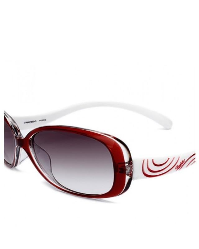 wedding photo - PARIM Sunglasses Black Tint with Red Swirl Womens Eye Wear