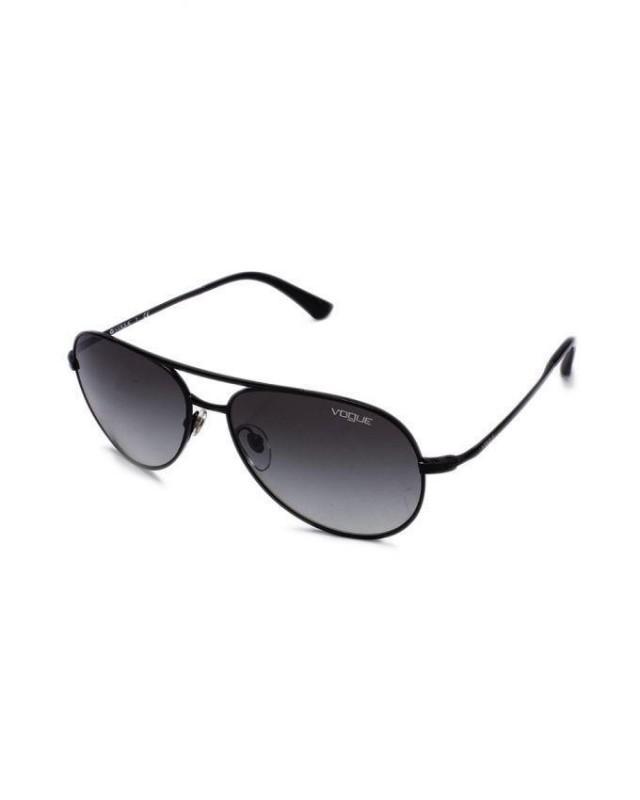 wedding photo - VOGUE Black Cat Aviator Sunglasses with Thin Metal Temple