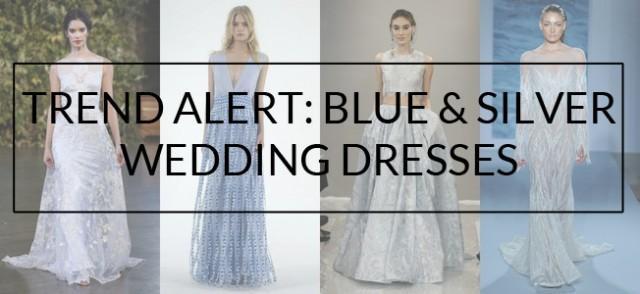 4b25d659d23 Trend Alert  Blue   Silver Wedding Dresses - Weddbook