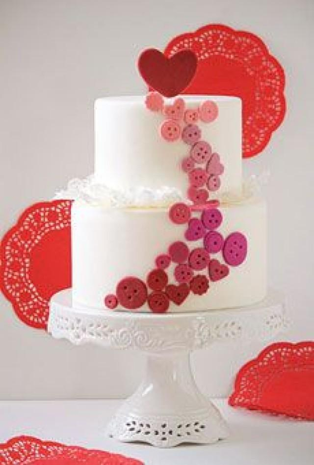 valentine 39 s day heart themed wedding cakes 2185311 weddbook. Black Bedroom Furniture Sets. Home Design Ideas