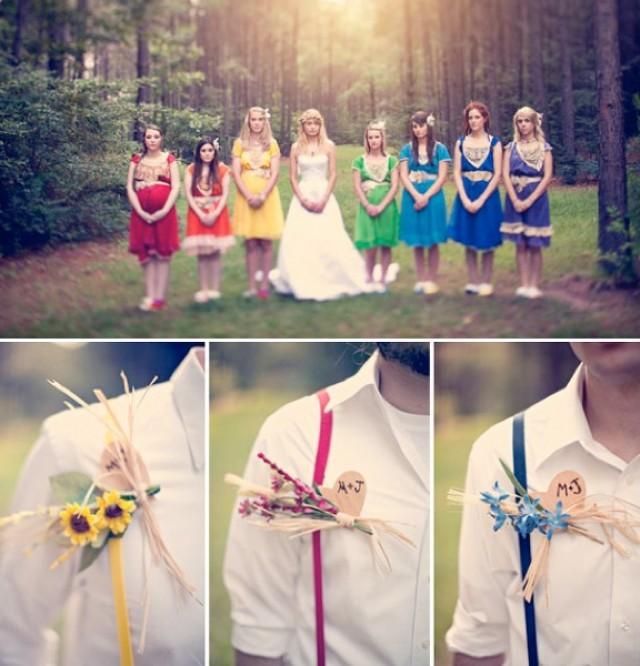 wedding photo - Rainbow Wedding