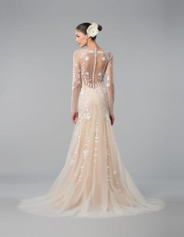 Carolina Herrera Pink Wedding Dress