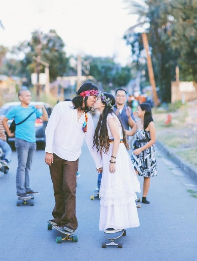 Skateboarding Hippie Wedding In The Philippines: Mark ...
