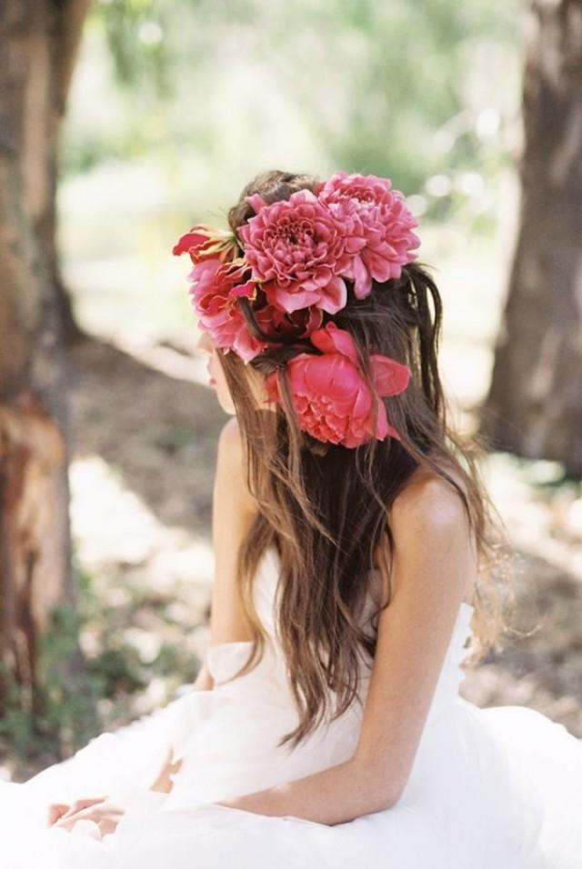 wedding photo - Fuchsia Flower Headpiece