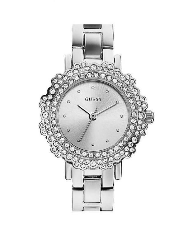 wedding photo - GUESS Ladies Stylish Silver Jewelry Watches Model No: W0318L1