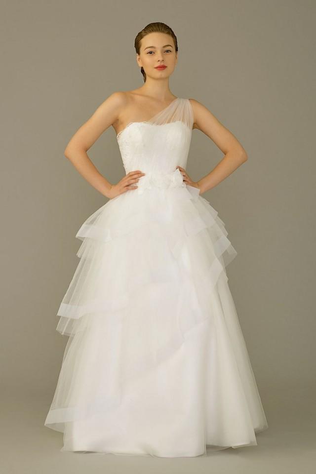 One shoulder strap wedding dress inspiration 2190195 for Wedding dresses one strap
