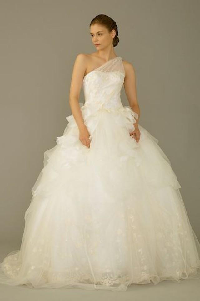 One Shoulder Strap Wedding Dress Inspiration 2190241 Weddbook