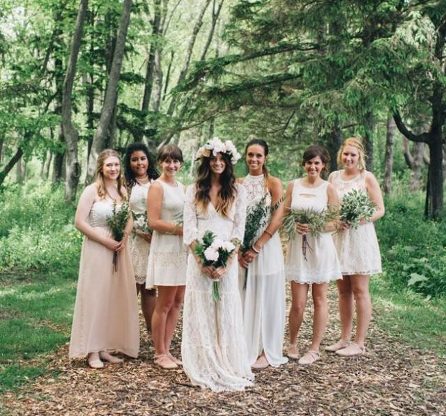 Bohemian Backyard Wedding : Bohemian Backyard Wedding In Milwaukee Rea Danny #2190937  Weddbook