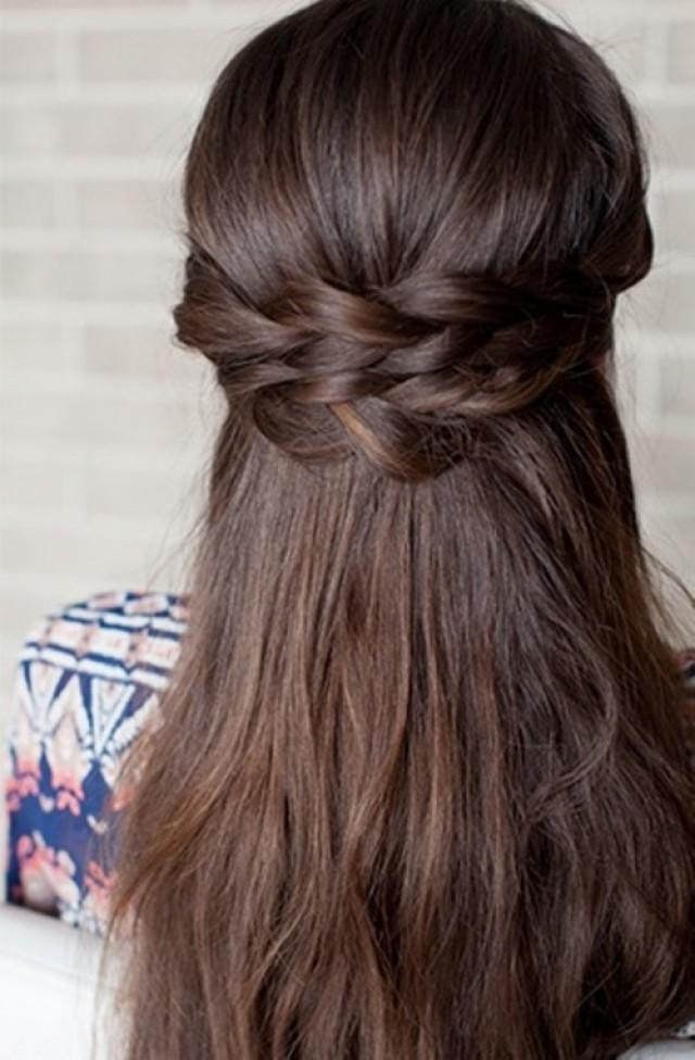 Romantic Diy Braided Half Up Bridal Hairstyle