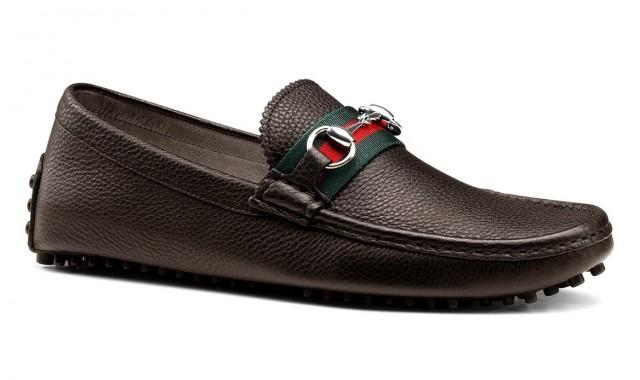 wedding photo - GUCCI Men's Driver Nickel Hardware Loafers Pebble Sole Shoes