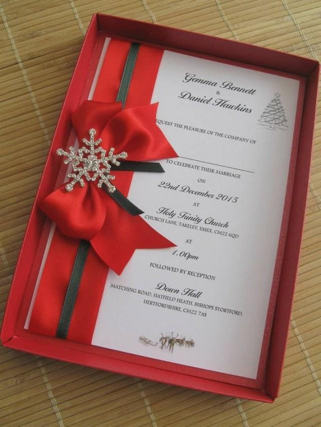 christmas wedding invitations - Military.bralicious.co