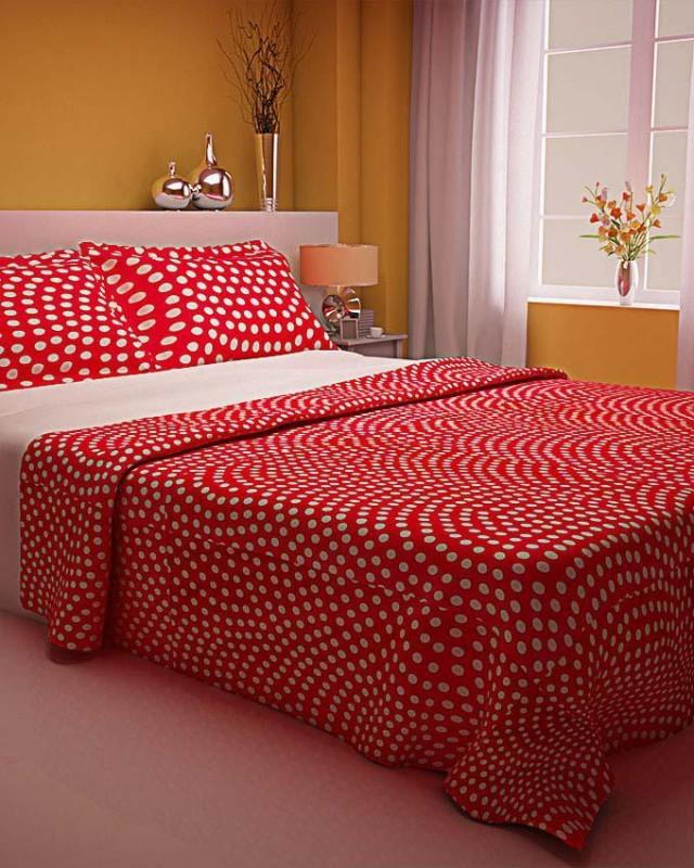 wedding photo - Zapprix White Red Designs Polka Dot Ladybug Bedding With Two Pillow Covers